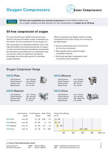 HAUG Oxygen Compressors
