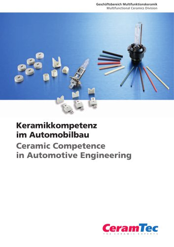 Ceramic Competence in Automotive Engineering