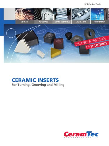 Ceramic Inserts For Turning, Grooving and Milling