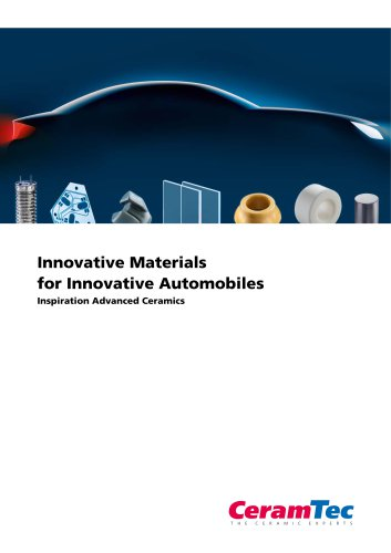 Innovative Materials  for Innovative Automobiles