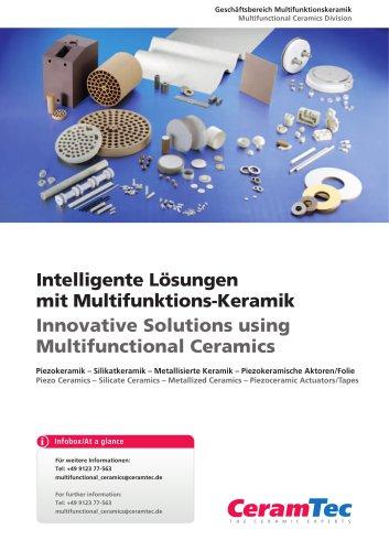 Innovative Solutions using Multifunctional Ceramics