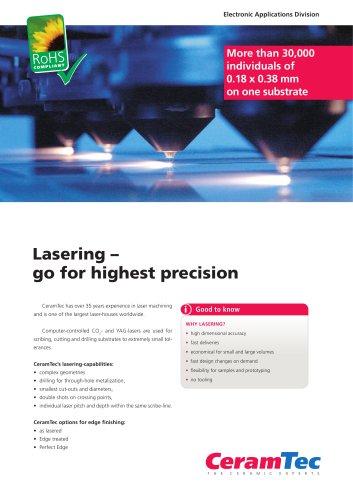 Lasering ? go for highest precision