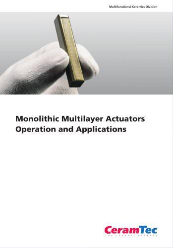 Monolithic Multilayer Actuators