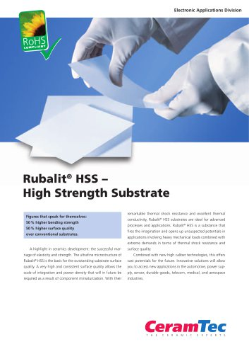 Rubalit® HSS ? High Strength Substrate