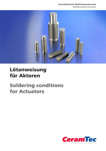 Soldering Conditions for Actuators
