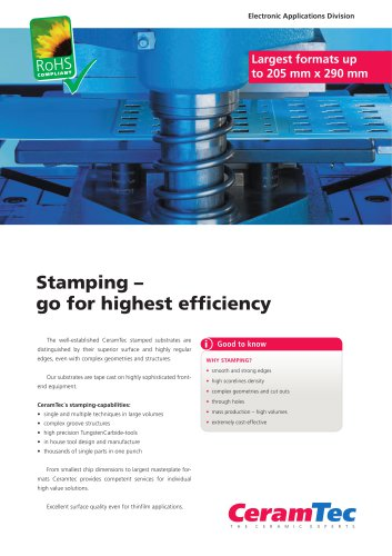 Stamping ? go for highest efficiency