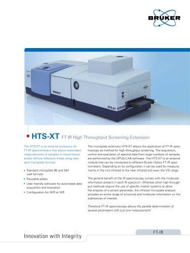HTS-XT - FTIR High Throughput Screening Extension