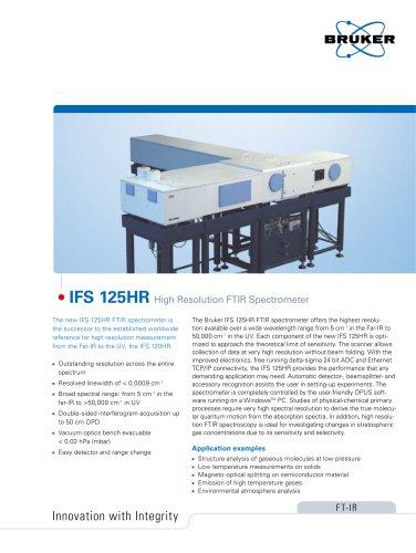 IFS 125HR - High Resolution FTIR Spectrometer