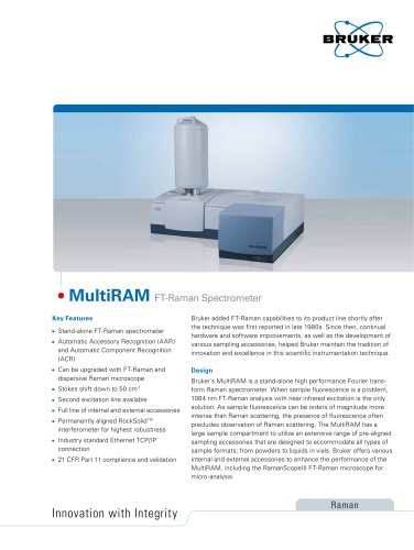 MultiRAM FT-Raman Spectrometer