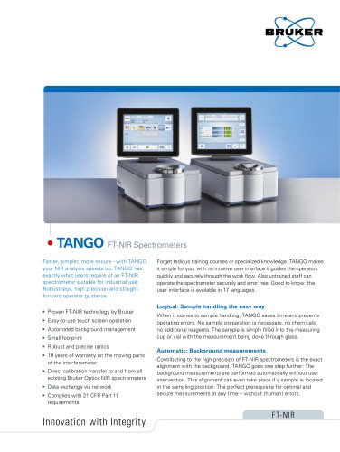 TANGO  FT-NIR Spectrometers