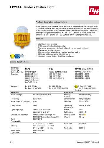 LP201A Helideck Status Light