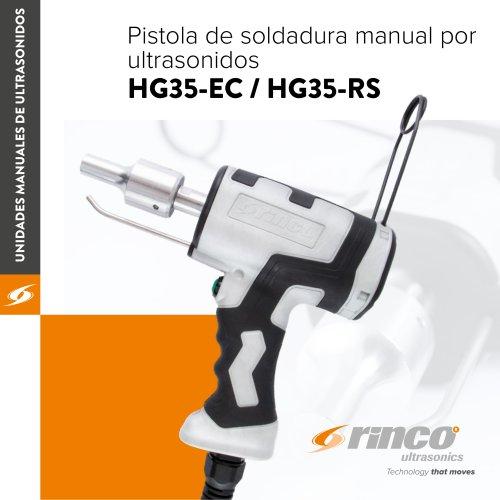 Pistola de soldadura manual por ultrasonidos HG35-EC / HG35-RS