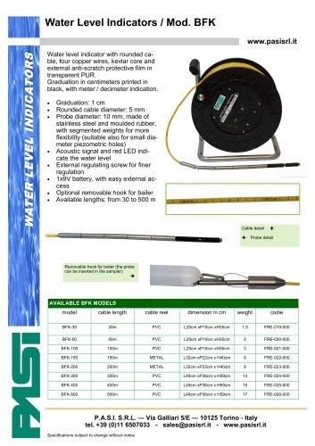 Water level meter Mod. BFK