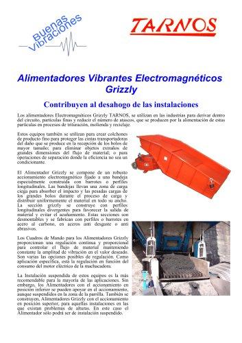Alimentadores Vibrantes Electromagnéticos Grizzly