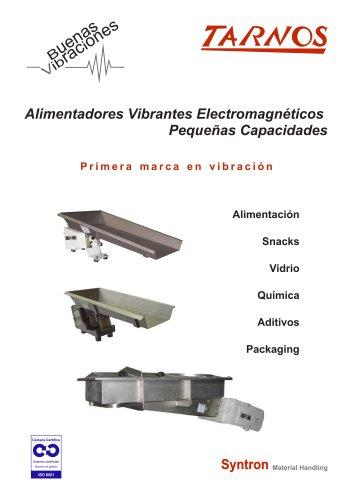 Alimentadores Vibrantes Electromagnéticos Pequeñas Capacidades