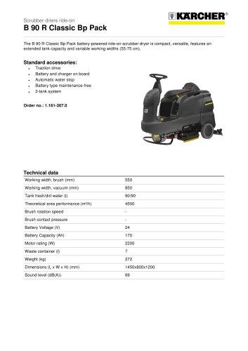 B 90 R Classic Scrubber drier