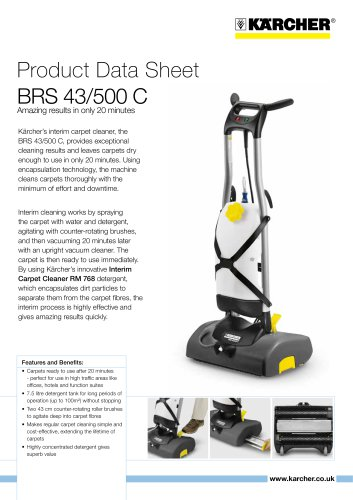 BRS 43/500 C with RM 768 Carpet cleaner