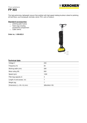 FP 303 Floor polisher