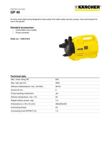 GP 40 Garden pump