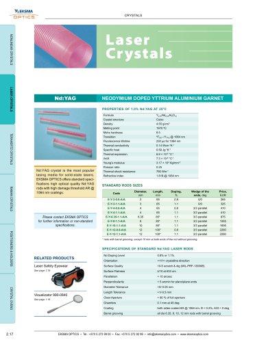 Laser Crystals   EKSMA Optics