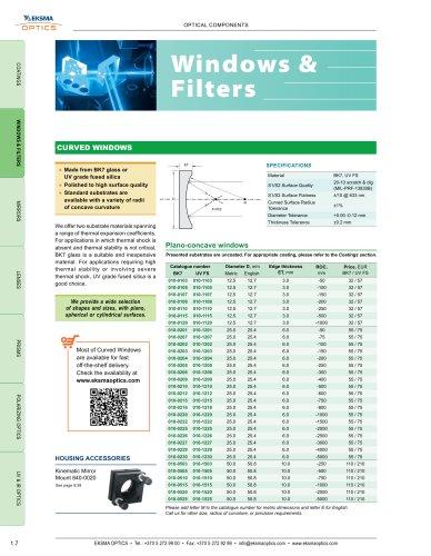 Optical Windows & Filters   EKSMA Optics