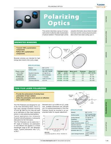 Polarizing Optics   EKSMA Optics