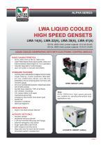 LWA LIQUID COOLED HIGH SPEED GENSETS