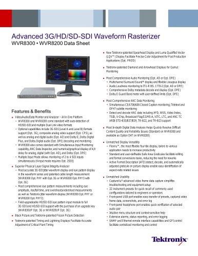 Advanced 3G/HD/SD-SDI Waveform Rasterizer WVR8300 ? WVR8200