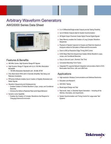 Arbitrary Waveform Generators AWG5000 Series