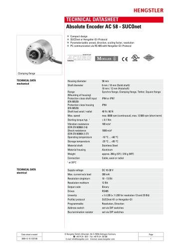 Absolute Encoder AC 58 - SUCOnet