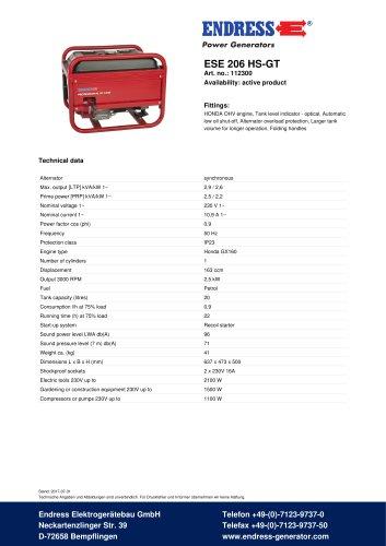 ESE 206 HS-GT