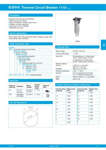 Thermal Circuit Breaker 1115-...