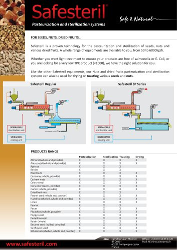 nut seed fruit pasteurization