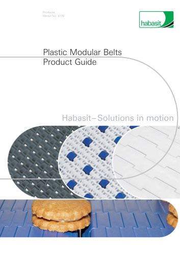 Habasit Modular Belts Product Guide (4178)