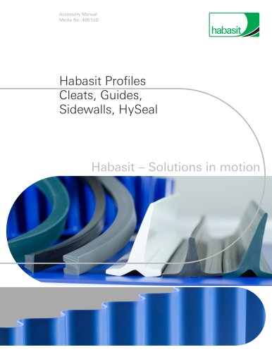 Habasit Profiles Cleats, Guides, Sidewalls, HySeal