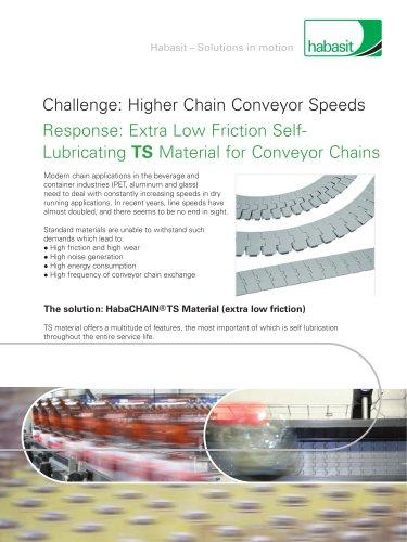 Higher Chain Conveyor Speeds
