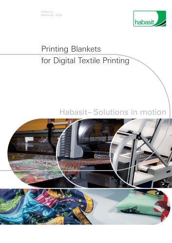 Printing Blankets for Digital Textile Printing