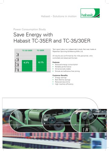 """Save Energy with TC-35ER and TC-35/30 ER"""