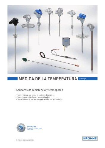Medida de la Temperatura Catálogo
