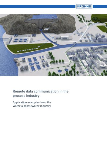 Remote data communication in the process industry