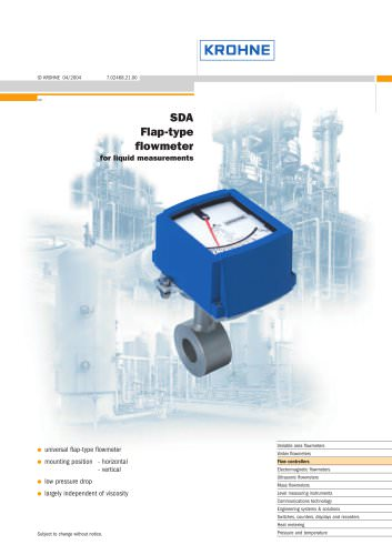 SDA Flap-type Flowmeter