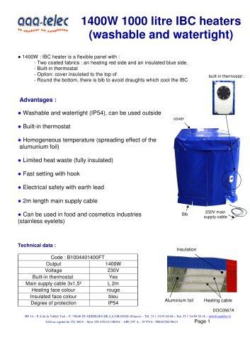 1000 litre IBC heater