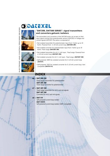Datexel CATALOGO DAT200-500 SERIES_ING