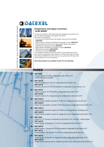 Datexel CATALOGO SLIM SERIES_ING