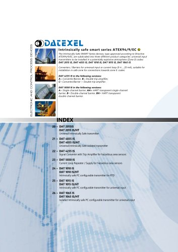 Datexel CATALOGO SMART ATEX SERIES_ING