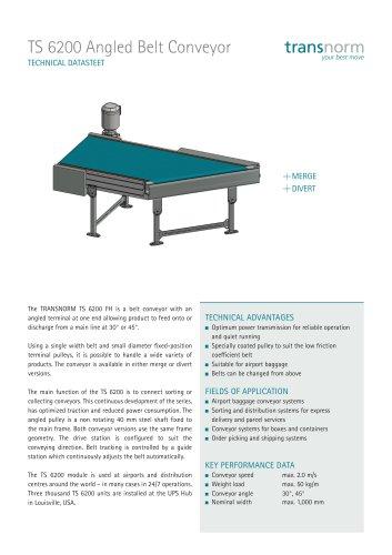 Angled Belt Conveyor 6200