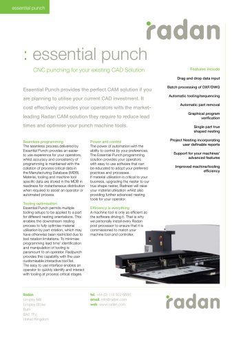 RADAN Essential Punch