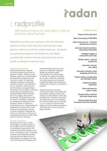 RADAN Radprofile