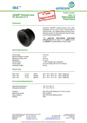 6.8 mm f/1.4 - High Durability version