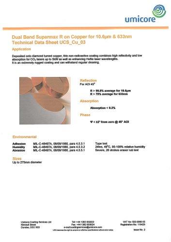 Copper coatings: DualBand Supermax R